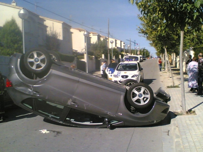 accidente en poblacion